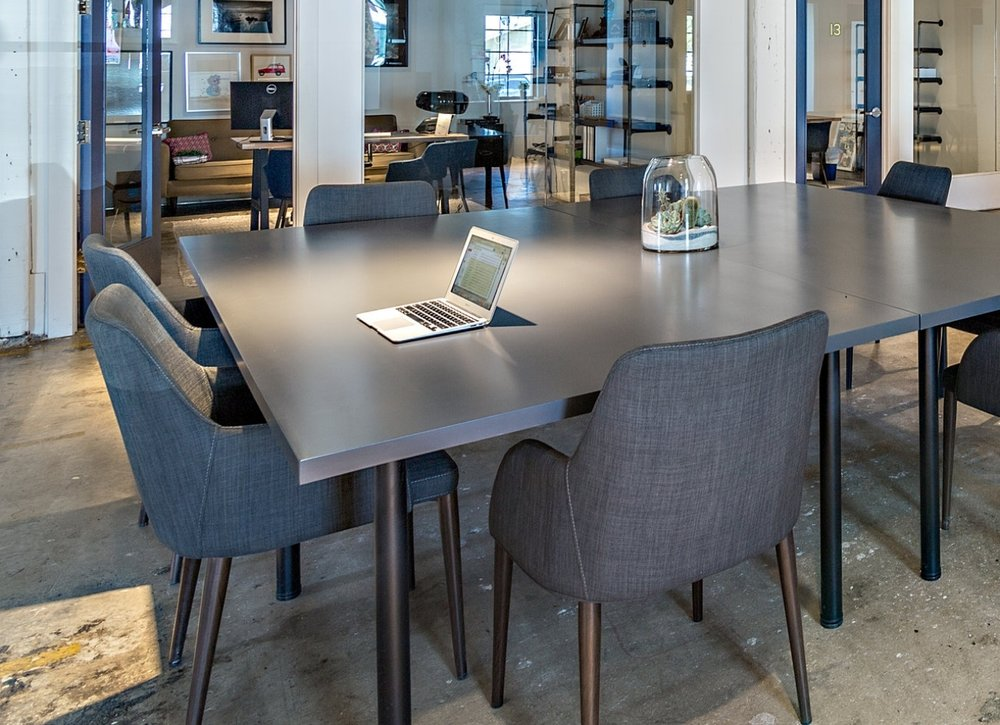 $350 Month/$3600 YEARCommunity Desktop - Some businesses require walls. Yours doesn't. These seats are designed to give you a professional space to get work done. Unlock the power of open innovation by surrounding yourself with some unlikely collaborators in a sophisticated environment.