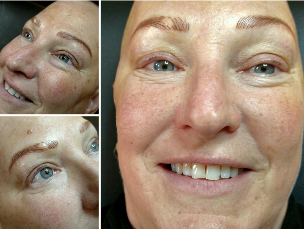 happy client that has had a natural eyebrow recreated by metamorphosis microblading in Vancouver Washington