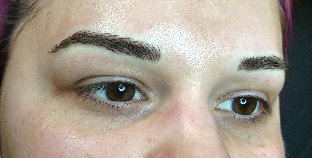 semi permanent eyebrow microblading microshading phibrows vancouver washington