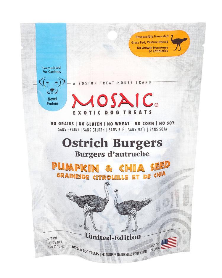 Ostrich Burgers | Pumpkin & Chia Seed (4 oz)