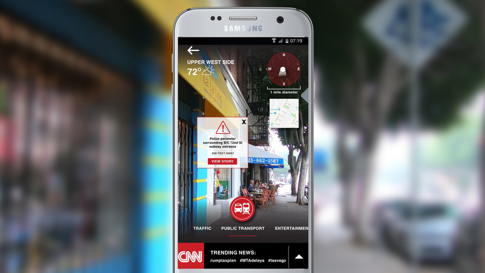 CNN App - Speculative integration of GPS-based Augmented Reality Feature