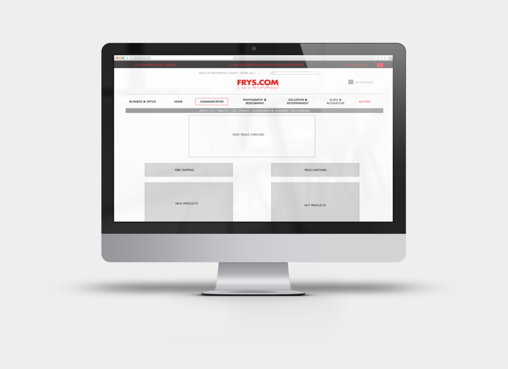 Frys.com - Speculative e-commerce checkout redesign