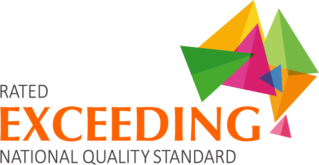 Rated exceeding logo for early childhood education.