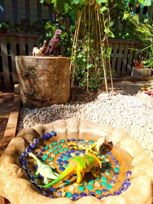 Chiselhurst Kindergarten dinosaur garden