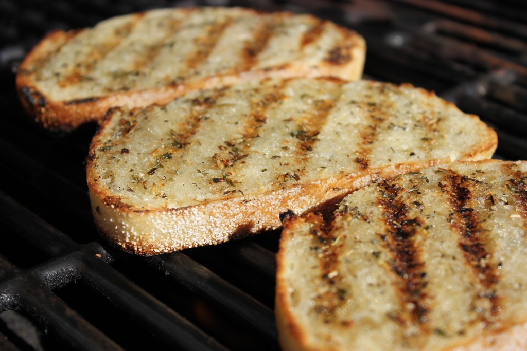 GRILLED GARLIC BREAD-  A little slice of heaven.
