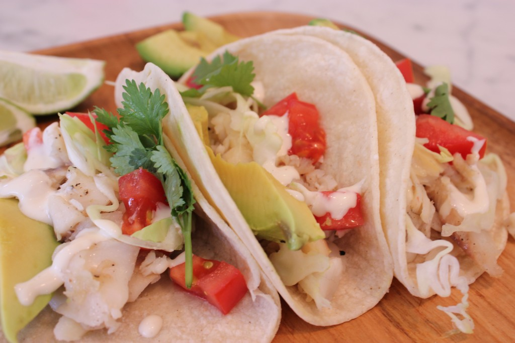 FISH TACOS WITH BUTTERMILK DRESSING- These are TO DIE FOR!! @thefoodnanny.com