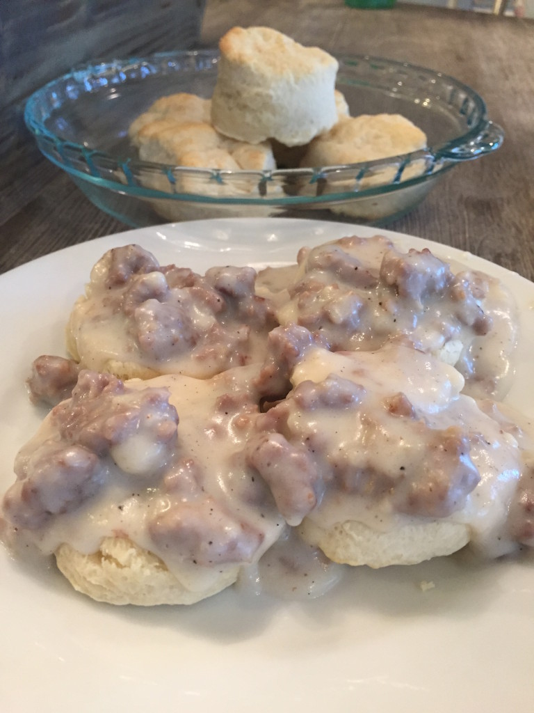 BISCUITS & SAUSAGE COUNTRY GRAVY
