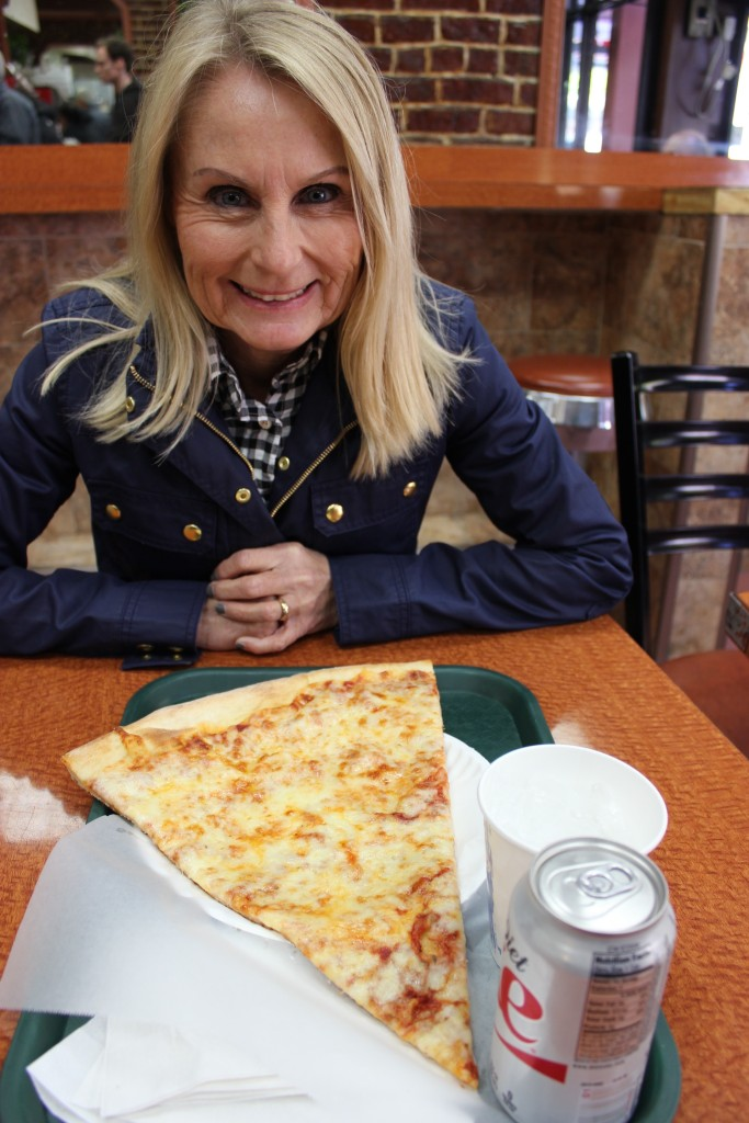 Mom and pizza