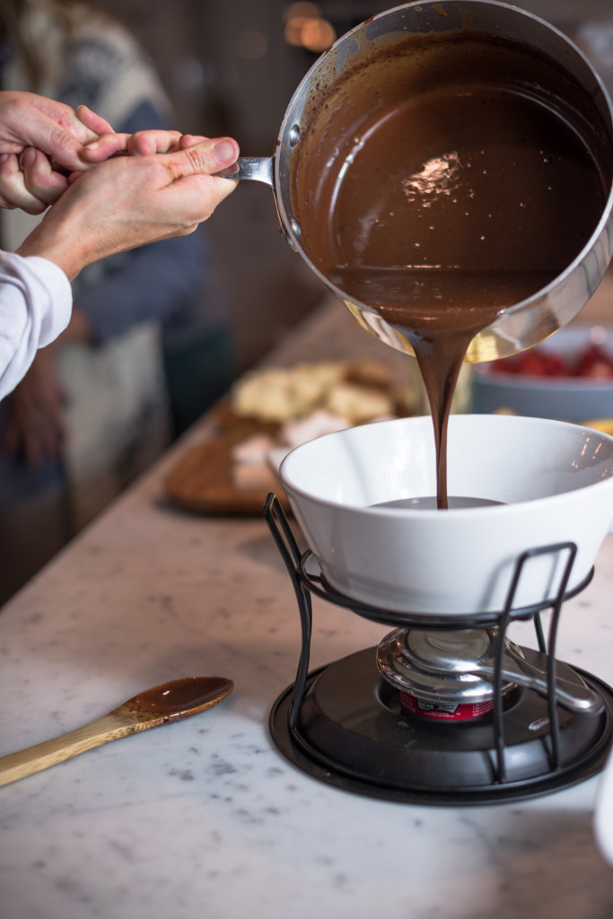 EASY KID FRIENDLY CHOCOLATE FONDUE SAUCE- You can make this on your stove and dip out of the pan.... if you don't have a fondue pot!!! thefoodnanny.com