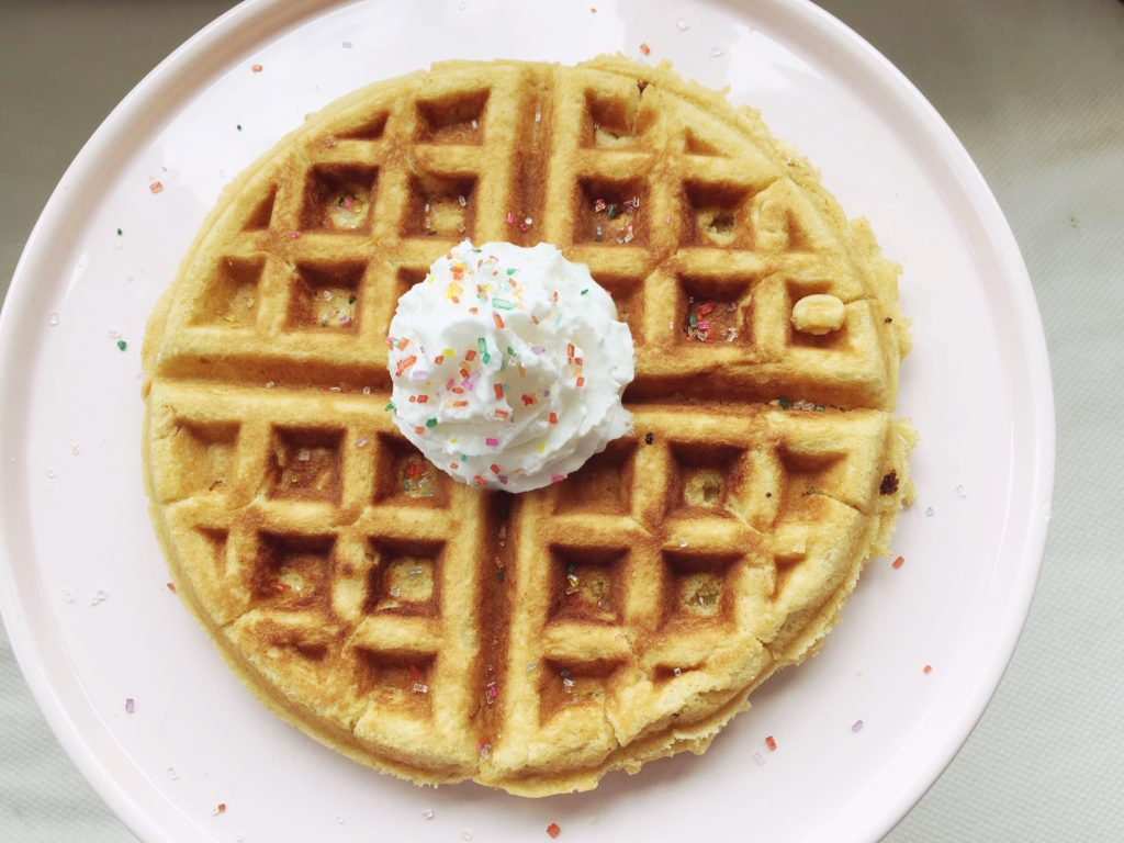 Peanut Butter Waffle......these are pretty dang good! And SUPER easy. thefoodnanny.com