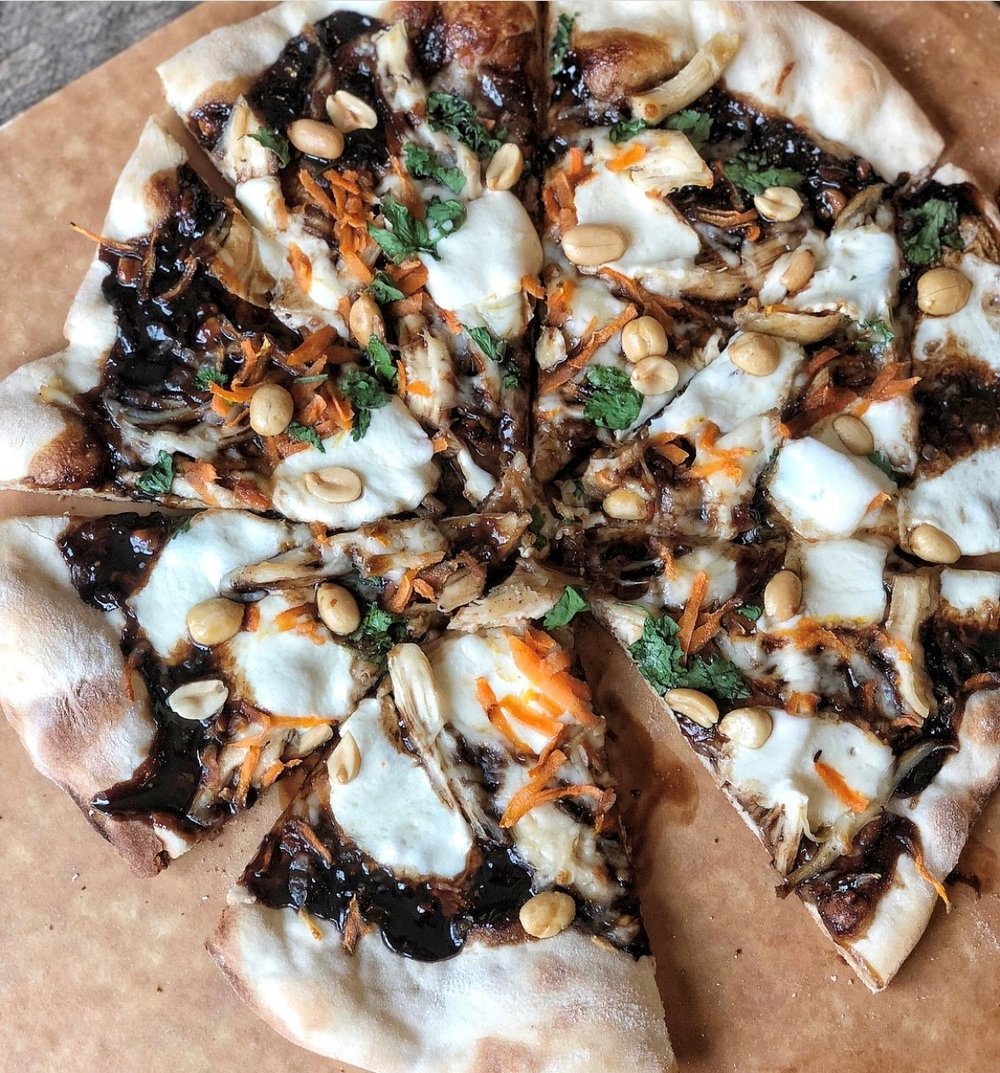 Fabulous Thai Chicken Pizza