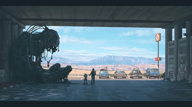 Highly highly encourage you to check out the #expose in @vice Mag on Swedish artist Simon Stålenhag. We love our fair share of disturbing, futuristic dystopian robot art presented in comfortable and inviting hues.⠀ .⠀ .⠀ .⠀ .⠀ #Bratlisted #art #artists #influential #storytellers #visual #campaigns #fashion #details #simonstalenhag #Vice #Vicemag #Waypoint #feature #dystopian #future #paranormal #expression #botd #igers #showcase #2018