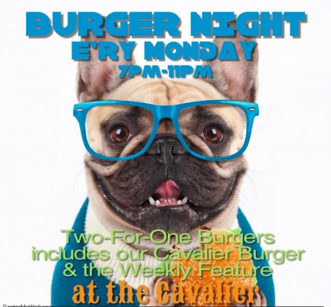Previous burger specials include: frito pie burger, monte cristo burger, stuffed burger, & Patty melt