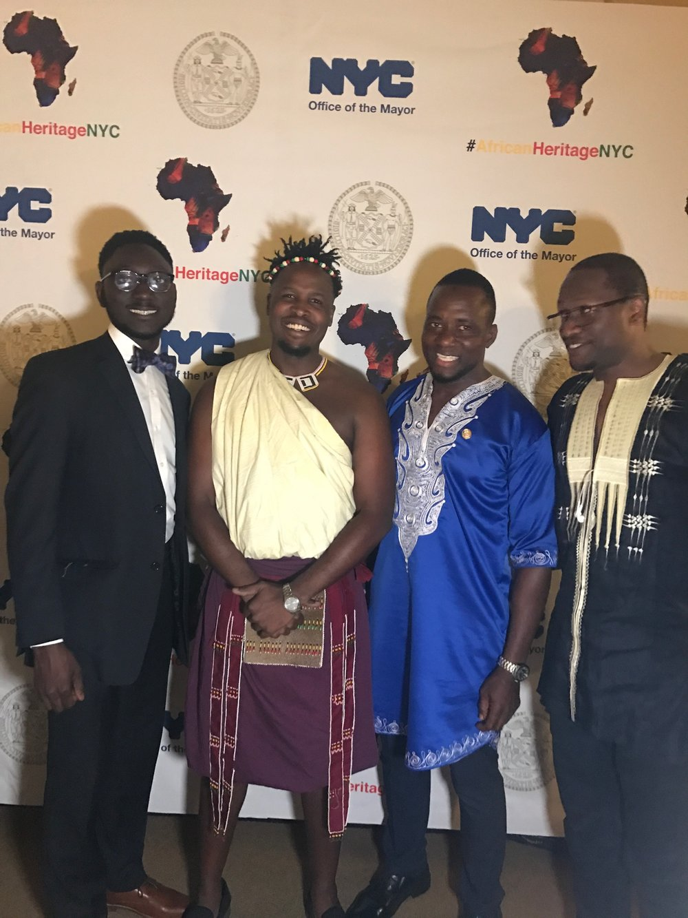 Me representing the Kingdom of eSwatini at an African Heritage reception at the NYC Mayor's Office.