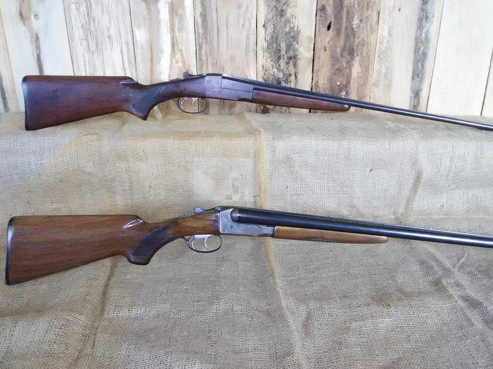 Top: Chris' Grandfather's Savage Fox Model B in .410   Bottom: Restored Savage Fox Model B in 12 Gauge