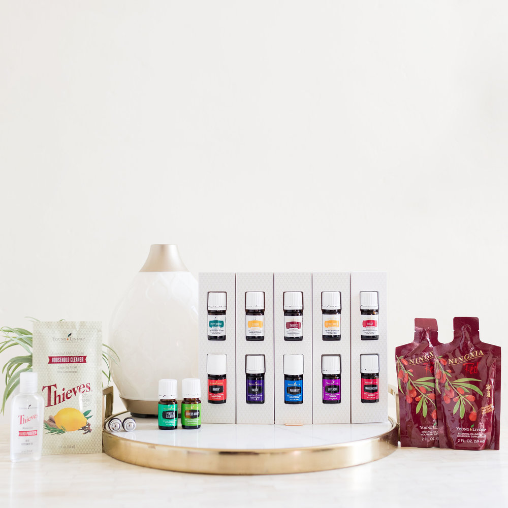 Premium Starter Kit - The best and most recommended way to start your journey with essential oils is with the Essential Oils + Diffuser Premium Starter Kit. The Young Living Starter Kit comes with 12 oils + diffuser of your choice and it includes a wholesale membership as well as other samples. This set of oils is the most complete to embark your towards wellness, purpose & abundance. Each oil can be used in a variety of ways to support the natural functioning of your body. With the purchase of a Premium Starter Kit you will get exclusive access to our resources, classes & webinars and be a part of this amazing community. To sign up, click here.