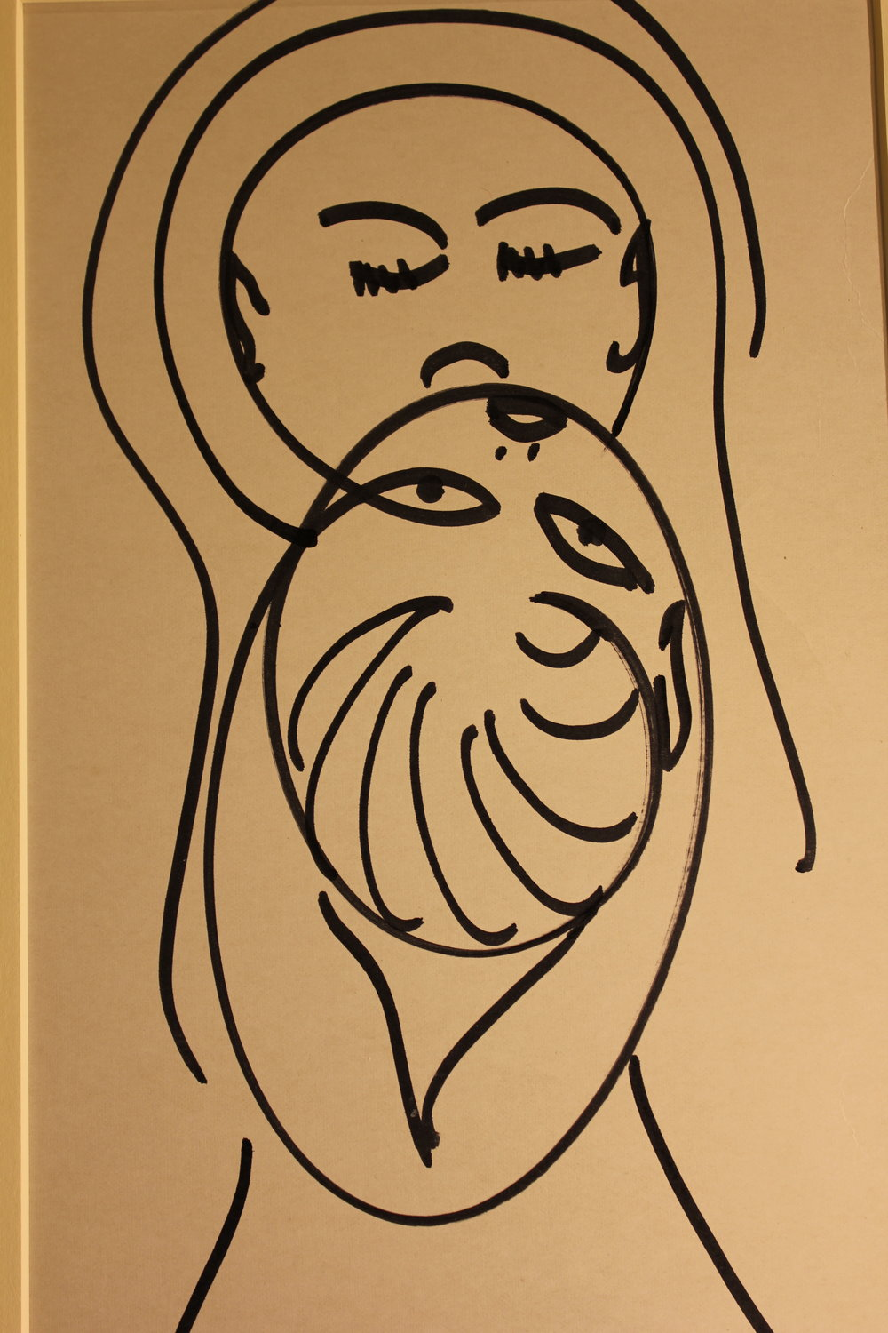 """Winnicott's Squiggle Drawing, """"Mother and Baby,"""" Photo taken at the Wellcome library 2016"""