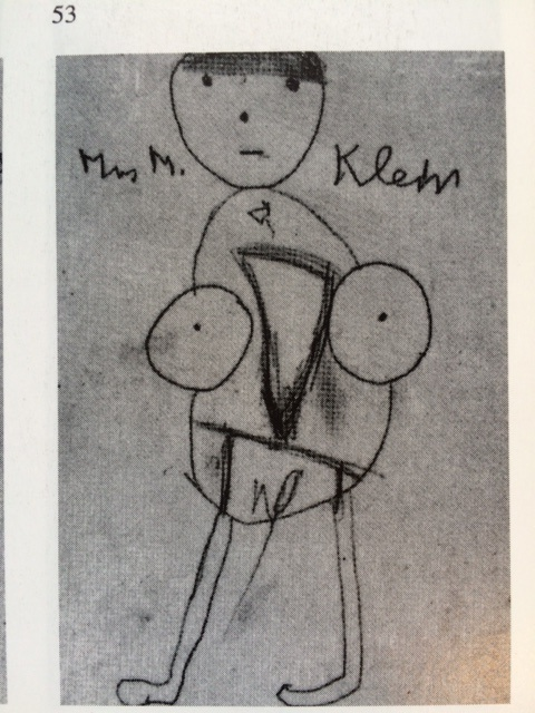 """Drawing by Klein's patient """"Richard,"""""""