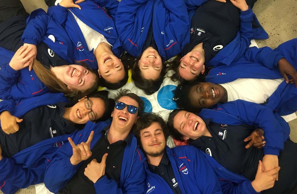Some of the 2017 participants of the Western Bulldogs Leadership Project