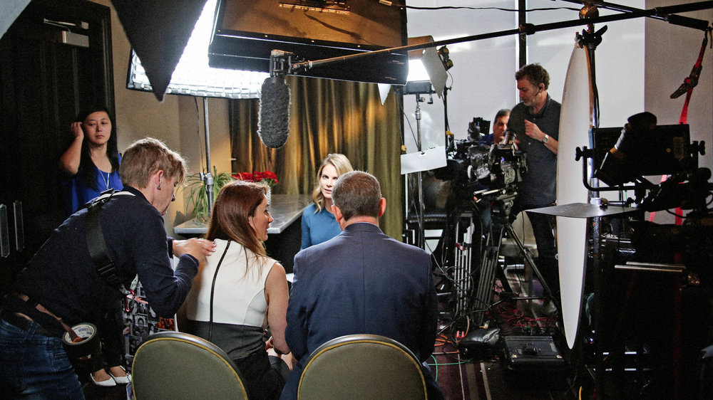 Behind the scenes of the NBC News interview by Natalie Morales