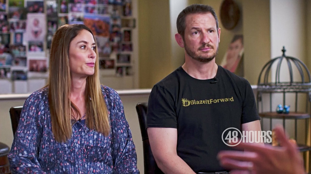 Blaze Bernstein's parents Gideon and Jeanne Pepper Bernstein during an interview with 48 hours.