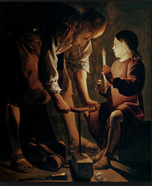 George de La Tour, Joseph the Carpenter, (1645) Public Domain