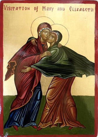 Visitation of Mary and Elizabeth Icon,  Iconsart