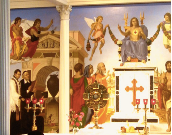 Triptych Mural by Leonard Porter, Photo Courtesy of McCrery Architects