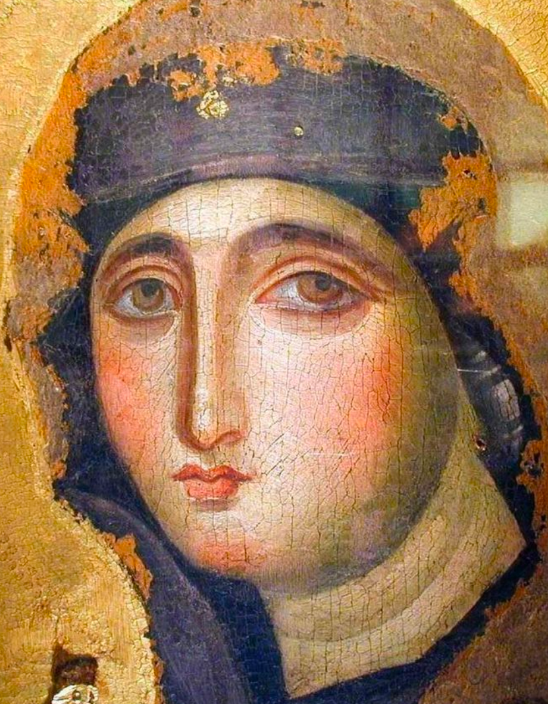 Perhaps the First Image of Mary Painted by St. Luke