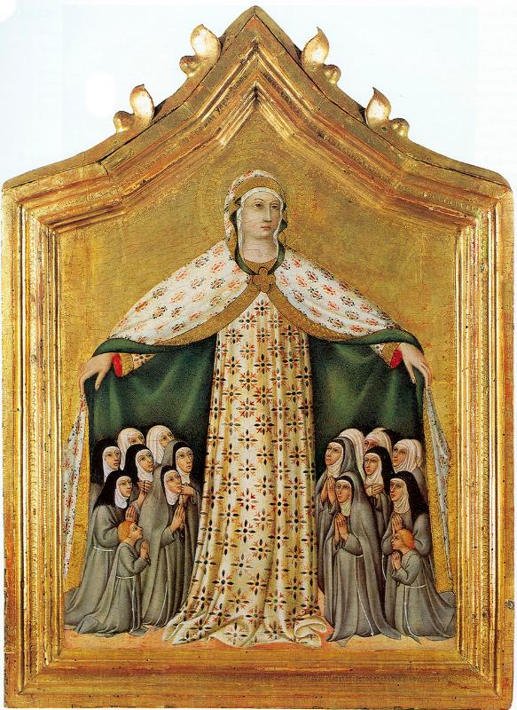 Virgin of Mercy, Sano di Pietro, 15th century;
