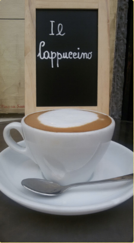 Cappucino gets it name from the likeness to a monk's haircut (Photo courtesy of Sant'Eustachio)