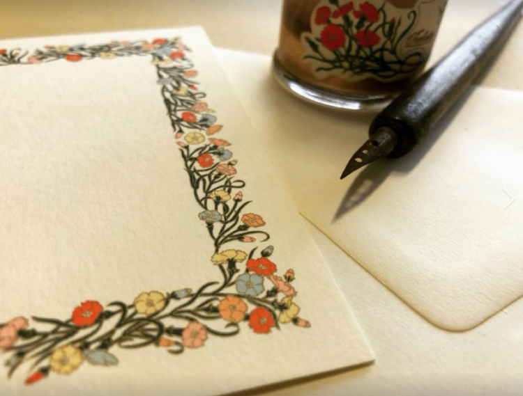 Hand-made Carnation stationary