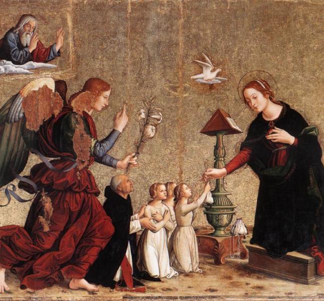 The Annunciation , Anoniazzo Romano (Photo Wikicommons)