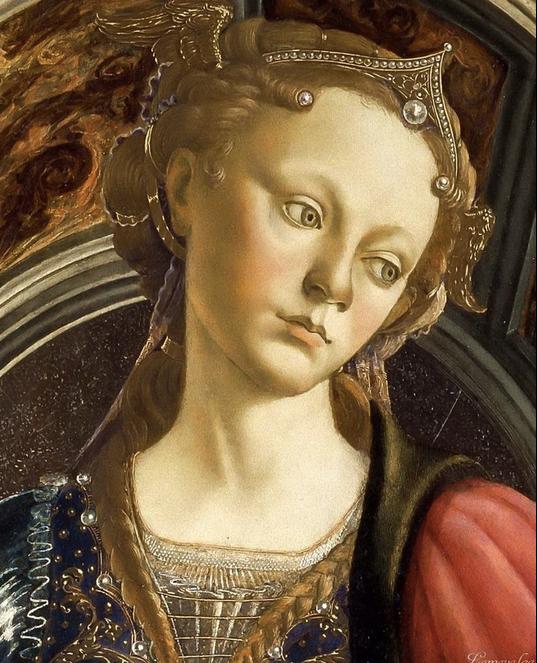 Woman representing  Fortune , Botticelli (Wikicommons)