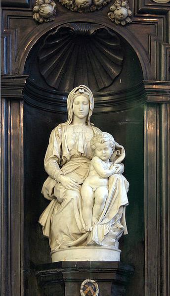 Michelangelo,  Madonna with Child , Brügge, Belgium (Wikicommons, Elke Wetzig)