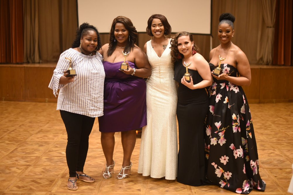 "CEO Stephanie Davis receives the ""Survivor and Service"" award at the Second Annual Troubled Movement Gala."