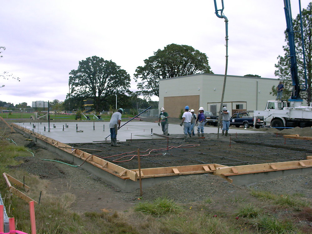 Pouring the foundation of the youth center.jpg