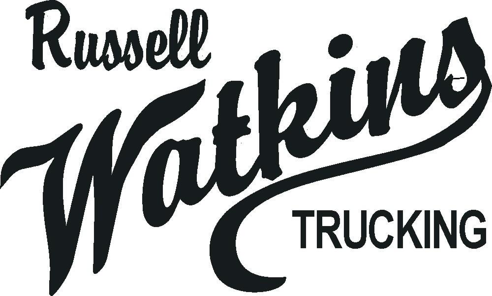 Russell Watkins Trucking logo.jpg b&w.JPG