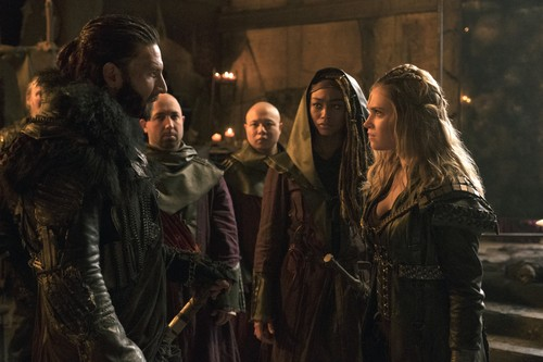 King Roan of Azgeda confronts Clarke about her bastardization of the grounder faith.