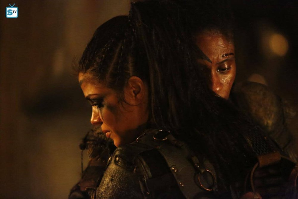 Octavia and Indra embrace prior to the final conclave.