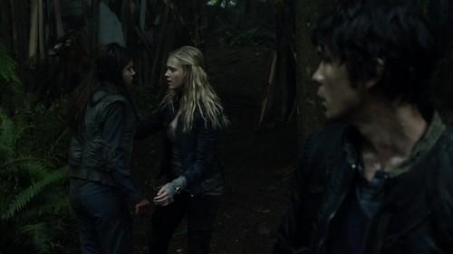 Bellamy, Clarke, and Octavia