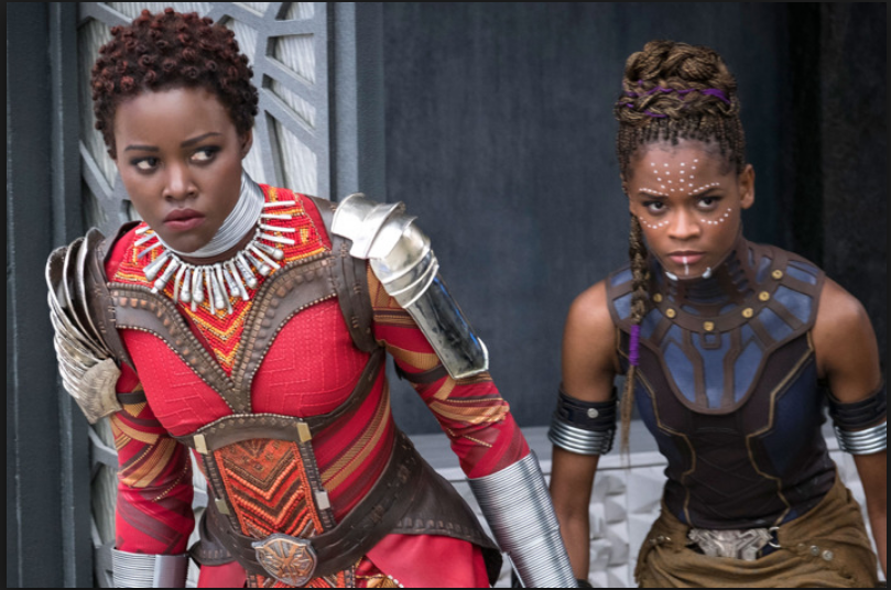 Shuri and Nakia go to battle Kilmonger