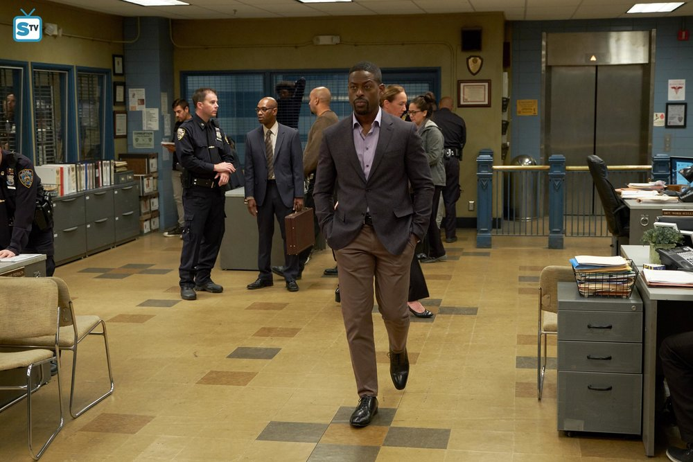 Sterling K Brown enters the precinct as Dr. Philip Davidson