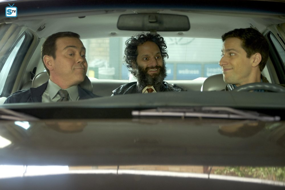 "Adrian Pimento (Jason Mantzoukas) returns in the ""Gray Star Mutual"" episode of  Brooklyn Nine-Nine"