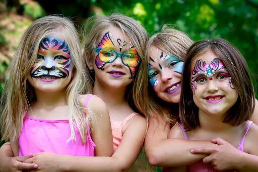 Girls birthday party Lifes a Party Facepainting.jpg