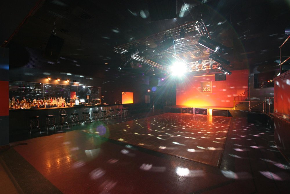 Nightclub interior with bright light