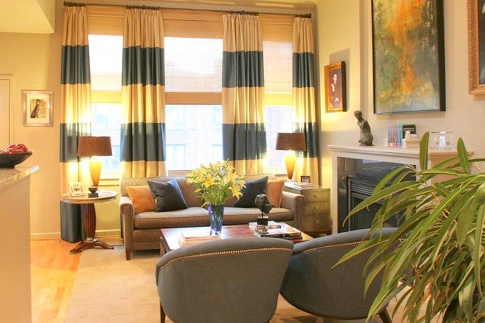 Condo living room diningr oom boston interir designer dane austin design 2