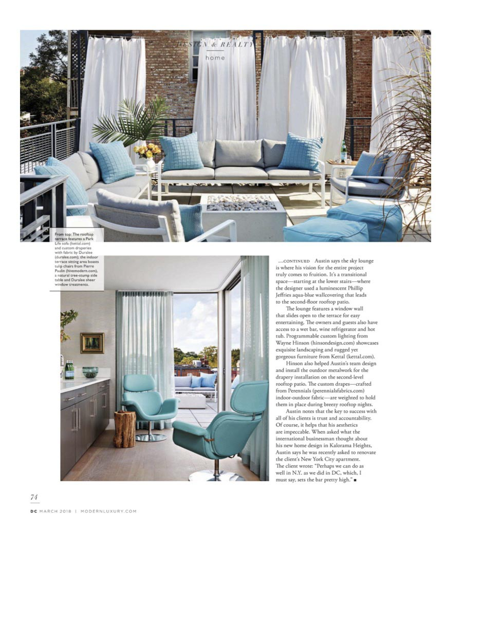 Chill Factor, Modern Luxury Magazine. March 2018 issue