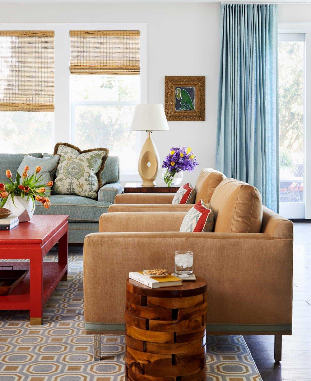 Living room with brown sofa best of Boston Cambridge DC top-designers Dane Austin Design