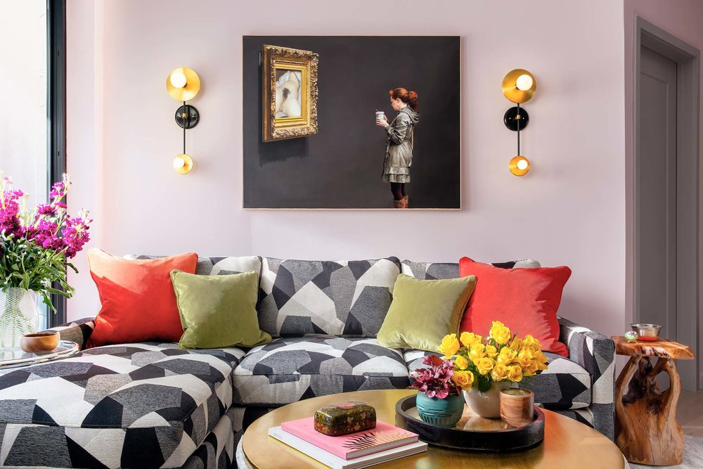 Best living room design in Boston and Cambridge condo interior designer top ideas Dane Austin Design